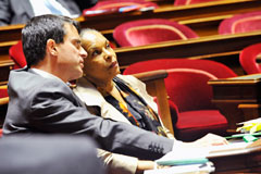 Manuel Valls et Christiane Taubira - Cr�dits photo : MJ/DICOM/Caroline Montagn�
