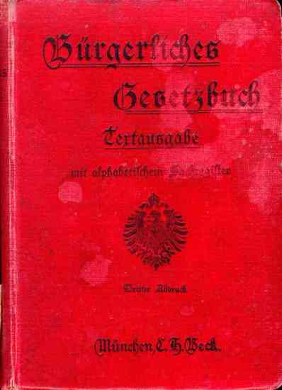BGB de 1896 (Code civil allemand)