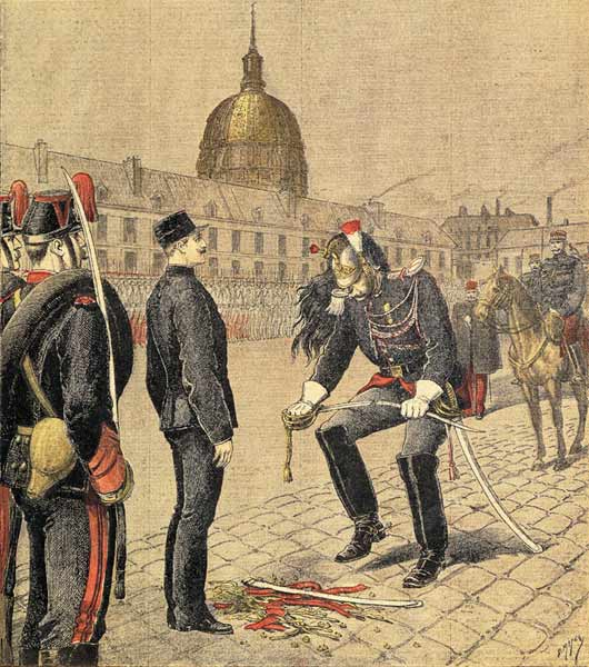 Dégradation d'Alfred Dreyfus - Source : By Henri Meyer (1844-1899) (From Le Petit Journal, cti.itc.virginia.edu) [Public domain], via Wikimedia Commons