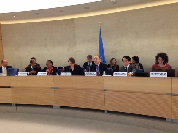 Intervention de Christiane Taubira au conseil des droits de l'Homme des Nations Unies le 20 mars 2015