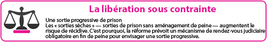 la lib�ration sous contrainte