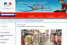 Le site Internet de la commission