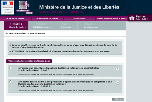 site www.timbres.justice.gouv.fr