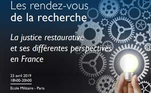 Conférence « La justice restaurative, perspectives en France »