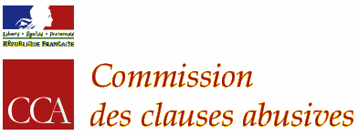 Logo de la commission des clauses abusives