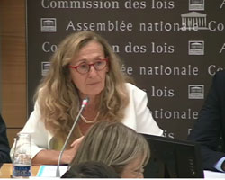 Audition de Nicole Belloubet devant la commission des lois © DR