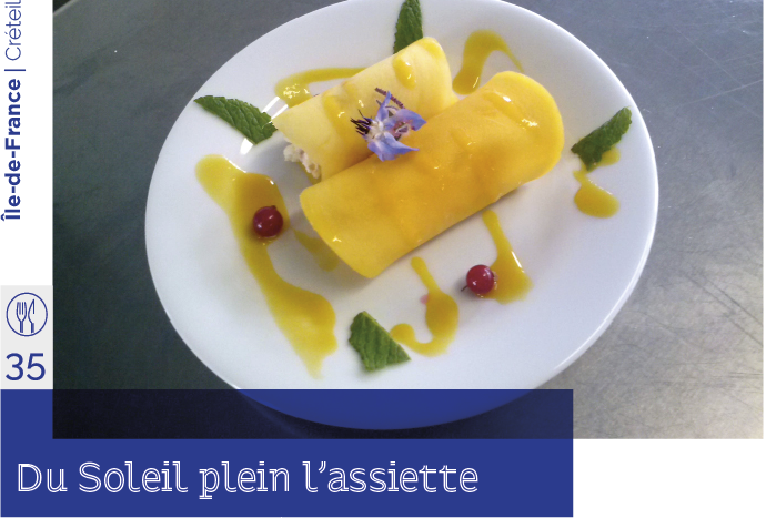 du Soleil plein l'assiette, restaurant d'application