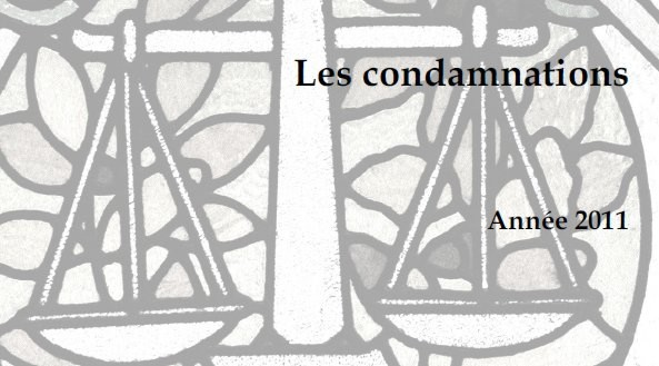 couverture condamnations 2011